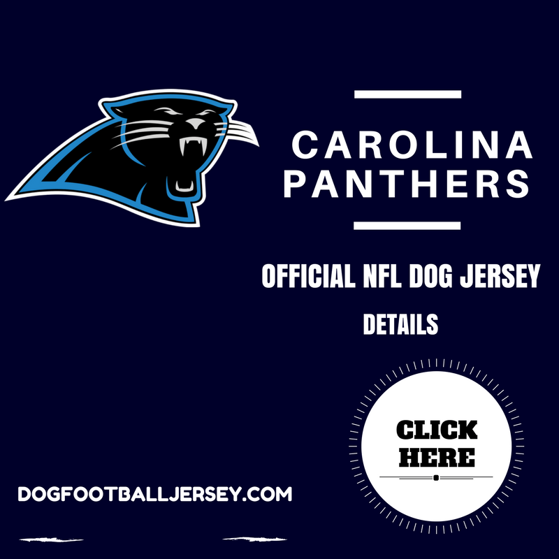 Carolina Panthers Official NFL Dog Football Jersey  c230d8d17